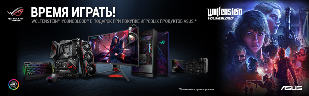 Промо акция Asus и 256bit Wolfenstein-Youngblood